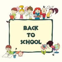 Kinderen school schets banner vector