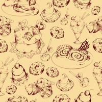 Snoepjes schets naadloze patroon