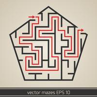 Doolhoflabyrint met oplossing vector