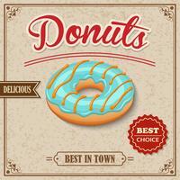 Doughnut retro poster