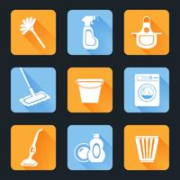 Schoonmaak Icon Set vector