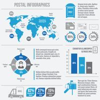 postdienst infographics vector