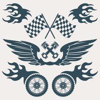 Motorfiets ontwerpelementen