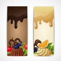 Chocolade banners verticaal