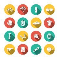 Set fietsen pictogrammen vector