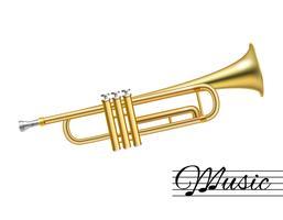 Trompet geïsoleerd op wit vector