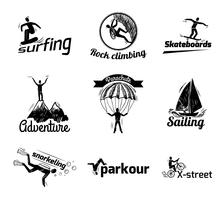 Extreme sport label schets