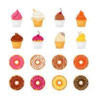 Doughnut cupcake pictogram