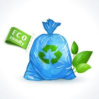 Ecologie symbool plastic zak vector