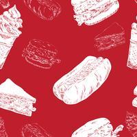 fast food naadloos vector