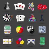 Spel pictogrammen instellen vector
