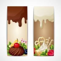 Chocolade banners verticaal vector
