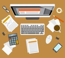 Accounter management werkplek vector