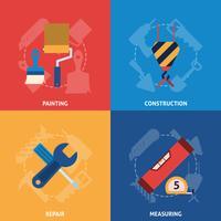 Home reparatie tools pictogrammen samenstelling vector