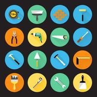 Bouwer instrumenten pictogrammen vector