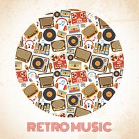 Retro muziekaffiche