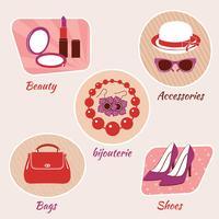 Vrouw schoonheid emblemen