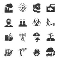 Vervuiling Icons Set