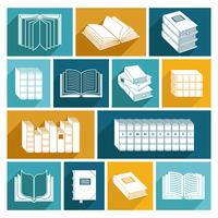 Boek Icons Set vector