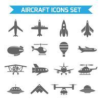Vliegtuigen pictogrammen plat