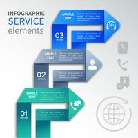 Origami infographics-dienstsjabloon vector