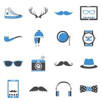 Hipster pictogrammen instellen vector