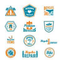 Set van fietsen label vector