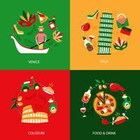 Decoratieve set van Italië vector