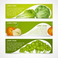 Horizontale groentenbanners vector