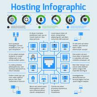 Infographic set hosting vector