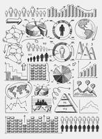 Schets diagrammen infographics