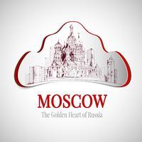 Moskou stad embleem vector