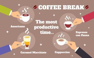 Koffiepauze concept vector