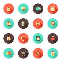 Winkelen pictogrammen voor e-commerce vector