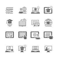 Online onderwijs pictogram vector