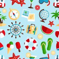Vakantie vakantie naadloze patroon