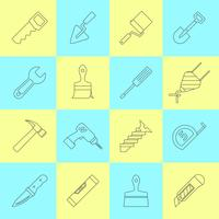 Home reparatie tools pictogrammen