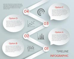 Tijdlijn zakelijke infographic