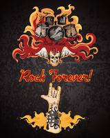 Rock muziek poster vector