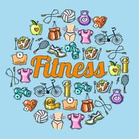 Fitness schets illustratie vector