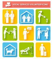 Vrijwilligerspictogrammen plat instellen vector