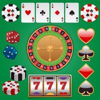 Casino ontwerpelementen vector