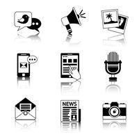 Mediapictogrammen zwart en wit