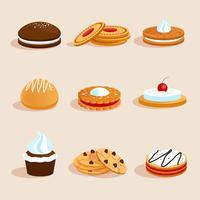 Cookies instellen geïsoleerd vector