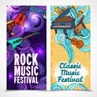 Muziek verticale banners