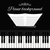 Piano klavier achtergrond vector