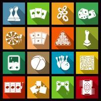spel iconen set vector