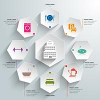 Hotel papieren infographics vector