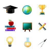Onderwijs pictogram realistisch vector