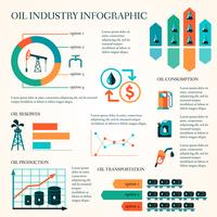 Olieproductie infographics vector